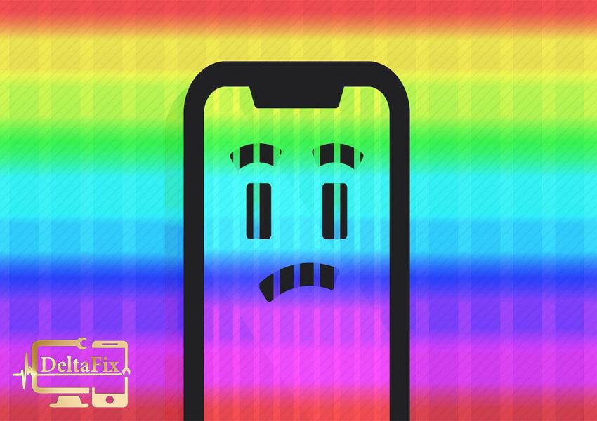 خطوط رنگی روی صفحه گوشی