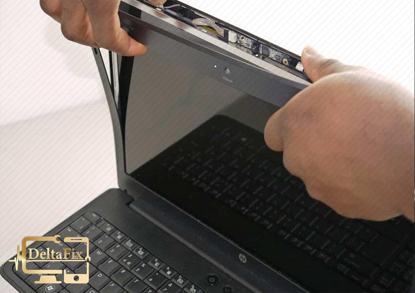شکستگی قاب لپ تاپ در محل فن