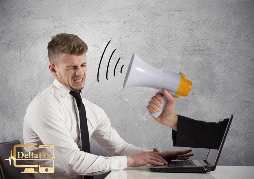 صدای غیر عادی لپ تاپ