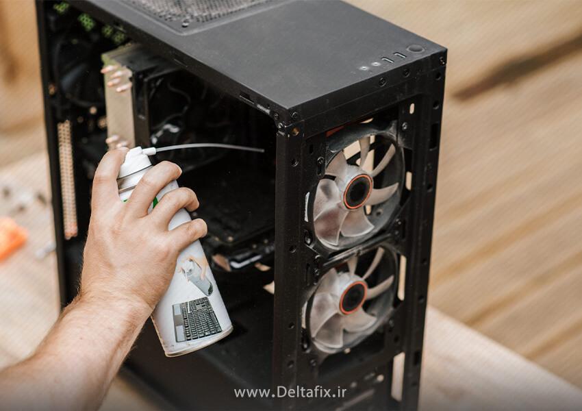 تمیز کردن قسمتهای مختلف کامپیوتر